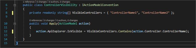 Controller visibility